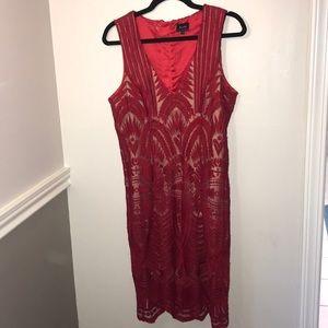 Red Lace dress by Bardot